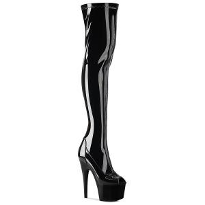 vinyl 18 cm ADORE-3011 åpen tå overknee støvler - pole dance overknees