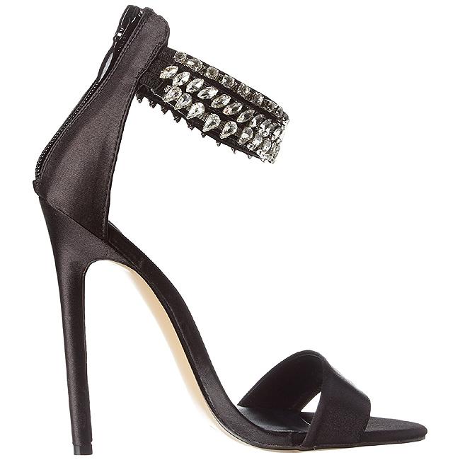 Black Rhinestone 13 cm SEXY-18 High Heeled Evening Sandals - kjøpe ...