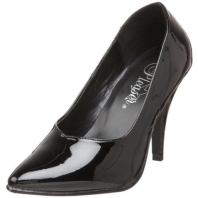 3ba368f7e6527a Black Shiny DRE420 B PLEASER big size High Heels Pumps for Men women ...