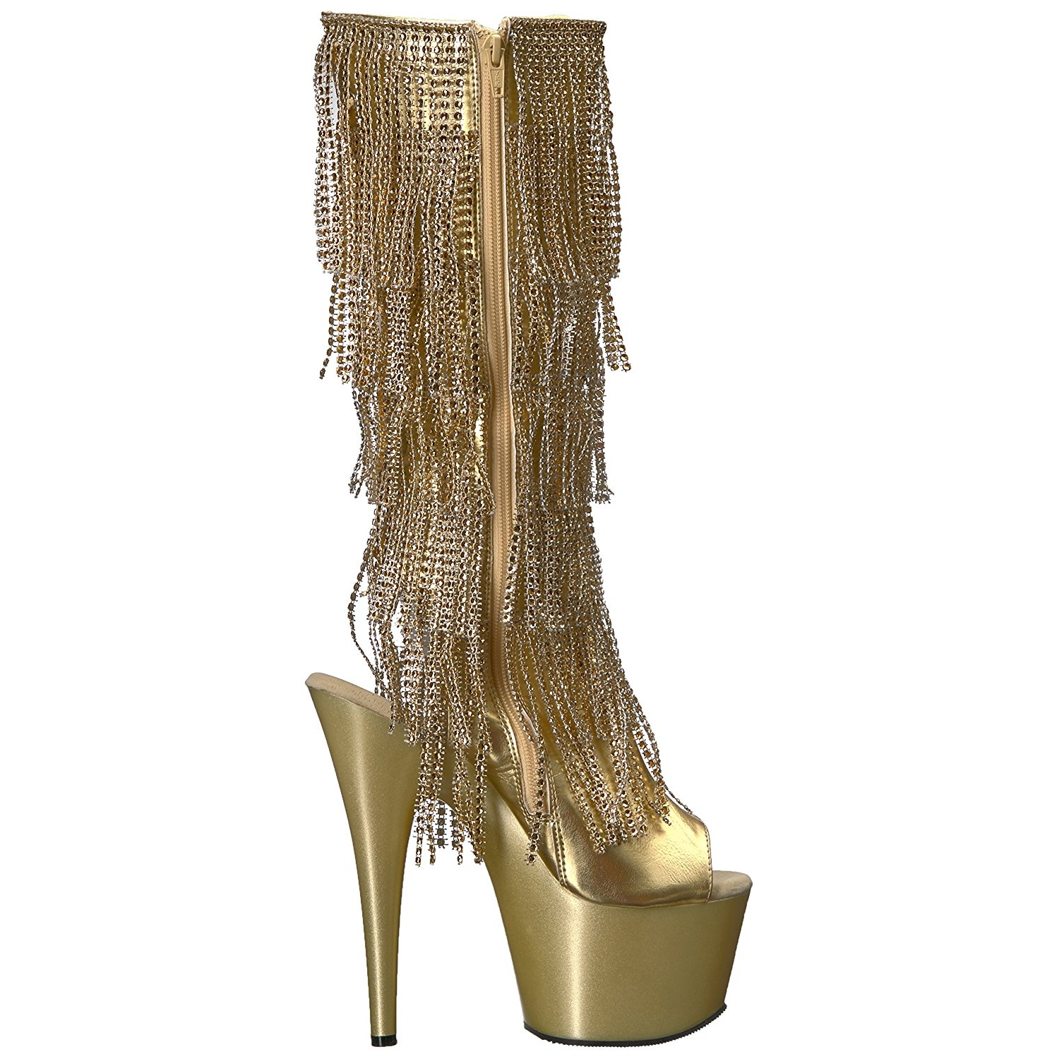 Strass High Adore 2024rsf Fringe 18 Boots Heels Gold Cm Womens rthCxsQdB