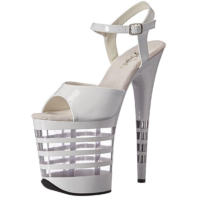 5f42f0cd3 Hvit 20 cm Pleaser FLAMINGO-809LN høye hæler damer sko