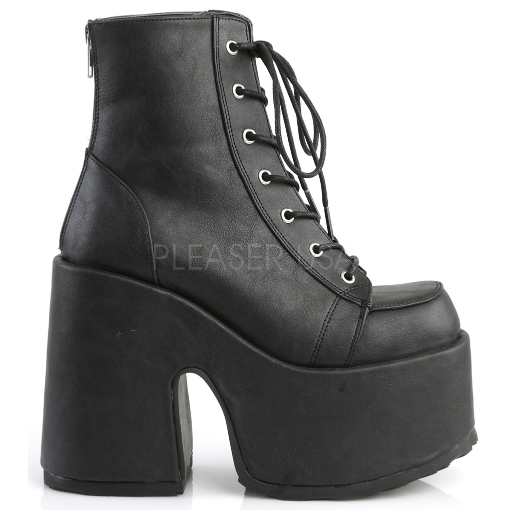 7f1c7af3666a Leatherette 13 cm DEMONIA CAMEL-203 goth ankle boots