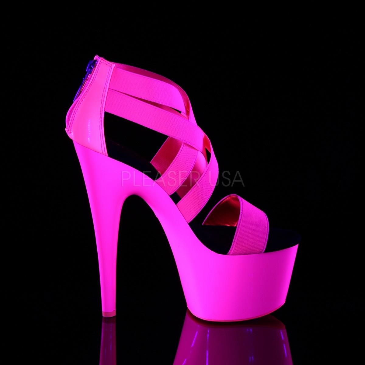 rosa neon 18 cm Pleaser ADORE 769UV pole dancing sko