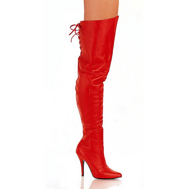 b989d6965d4 Red Leather LEG8899 R LE PLEASER big size Thigh High Boots for Men travesty  Boots crossdresser Over The Knee Boots
