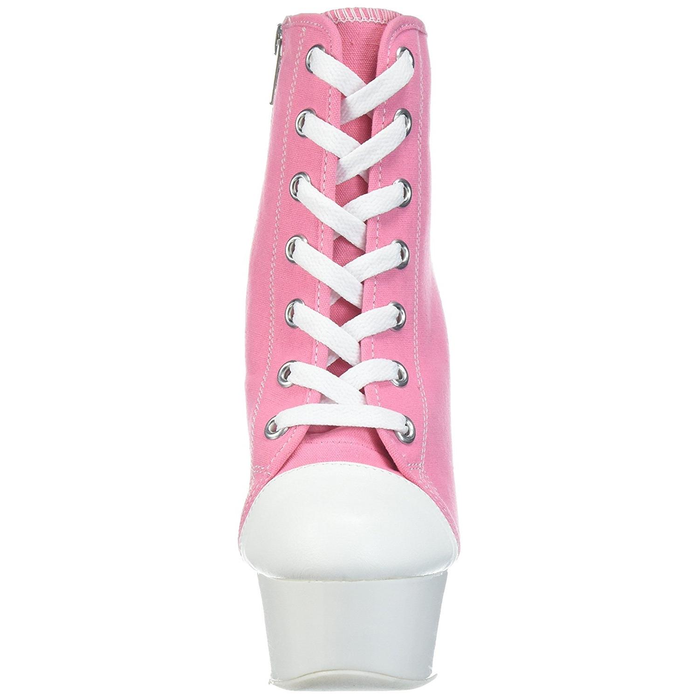 e37df2a6d1f04a Rose Neon 15 cm DELIGHT-600SK-02 Canvas high heels chucks