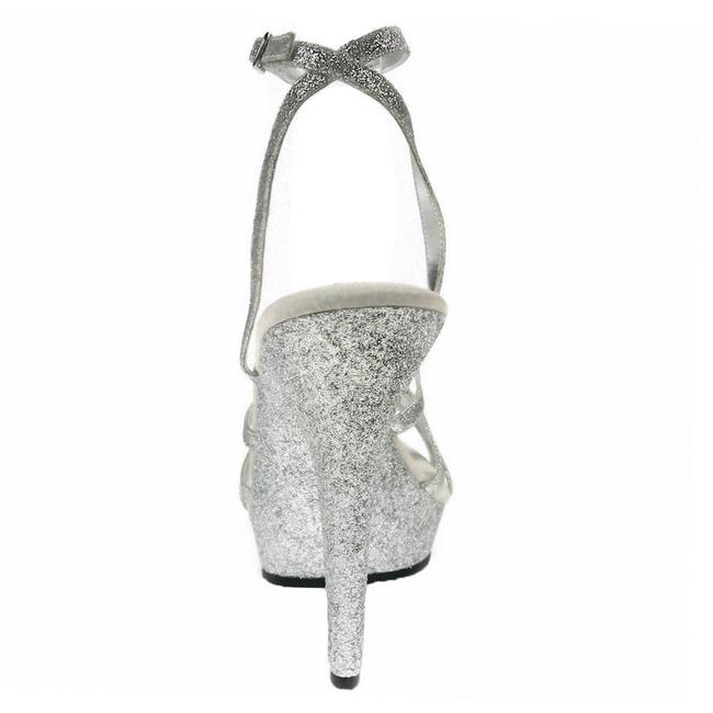 4925154ee4e Silver Glitter 13 cm LIP-128 Platform High Heeled Sandal Shoes ...