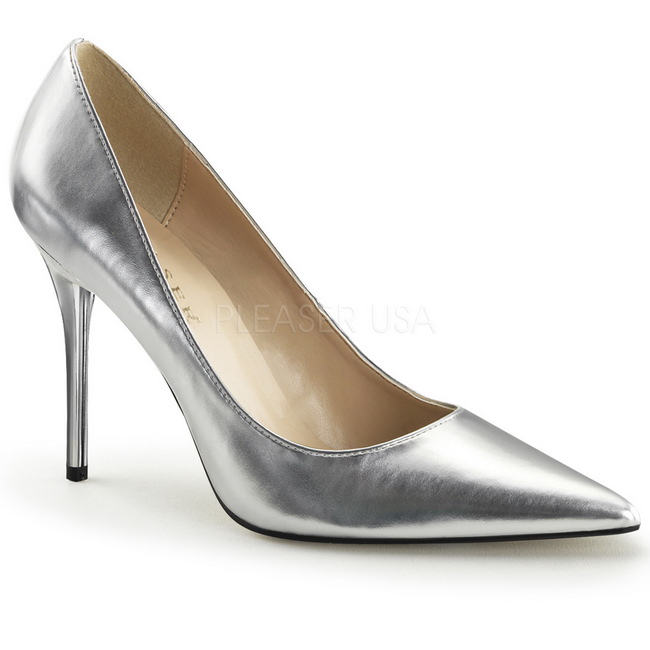 e7e800d2dfa Silver Matte CLAS20 SMPU PLEASER big size High Heels Pumps for Men women  shoes for Men travesty shoes crossdresser Pumps