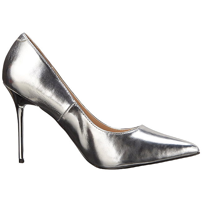 6dcb75b018c Silver Matte CLAS20 SMPU PLEASER big size High Heels Pumps for Men ...
