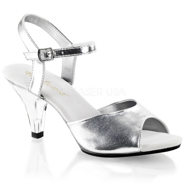 dad6262a1f4 Silver Matte 8 cm BELLE-309 Womens High Heel Sandals