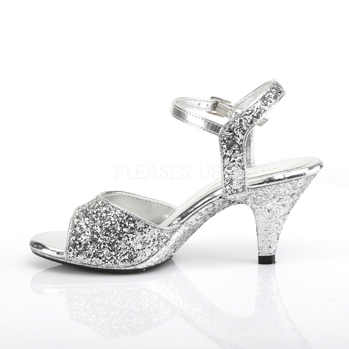 High Glitter Heeled Fabulicious Cm Silver 309g 8 Sandals Belle CtrBsQdohx