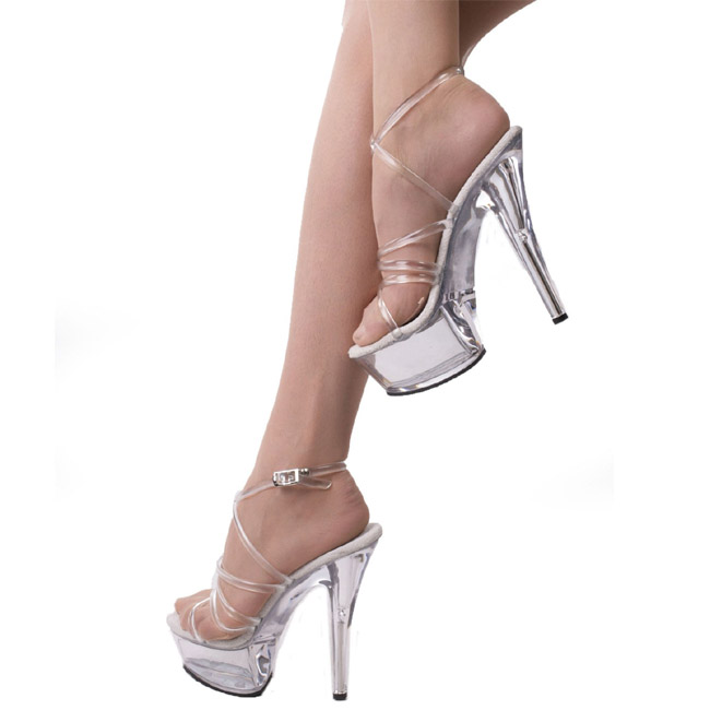802033ccbeb Transparent 15 cm KISS-206 Platform High Heels Shoes