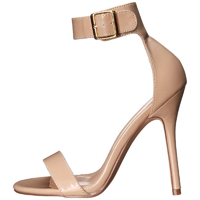 a8b9f702 beige 13 cm Pleaser AMUSE-10 dame sandaler med hæl