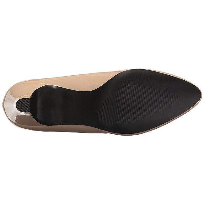 1723488d beige lakkert 8 cm DIVINE-420W dame pumps sko flate hæl