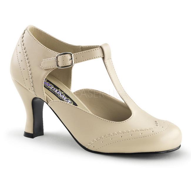 beige matt 7,5 cm FLAPPER 26 dame pumps sko flate hæl