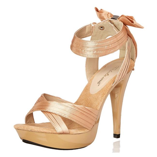 beige satin 13 cm COCKTAIL 568 høyhælte sandaler sko
