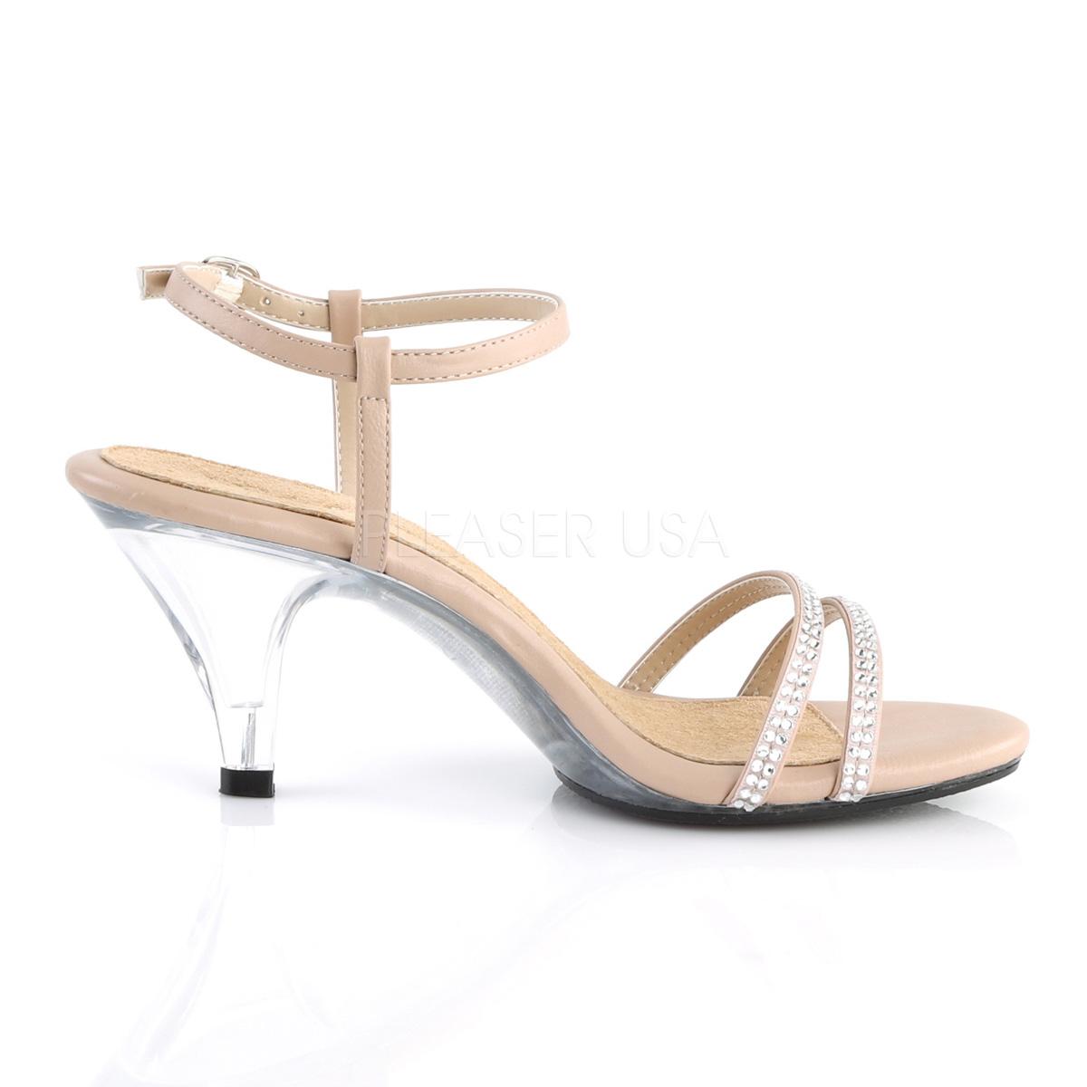 strass 8 316 hæler med BELLE for cm sko menn steiner høye beige DY9IW2EH