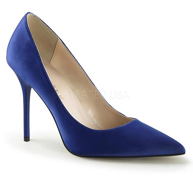 blå cm pumps satin sko CLASSIQUE 20 stiletthæl 10 dame BEQroeCdxW