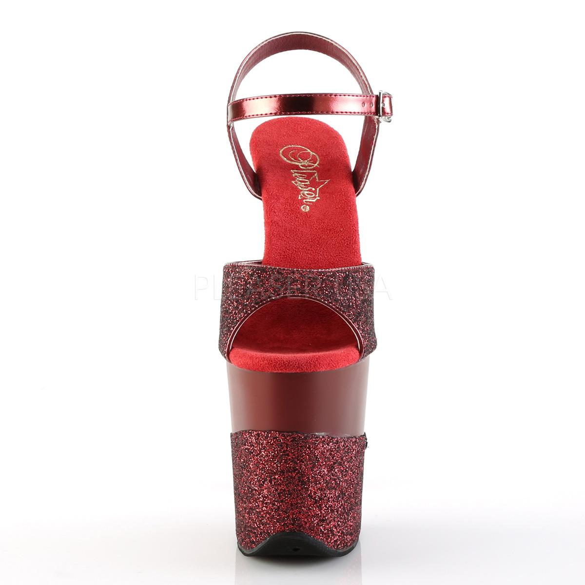 0088d5283 burgunder glinser 20 cm Pleaser FLAMINGO-809-2G høye hæler platå