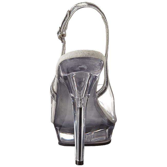 gjennomsiktig 13 cm LIP 150 plattform hæl sko