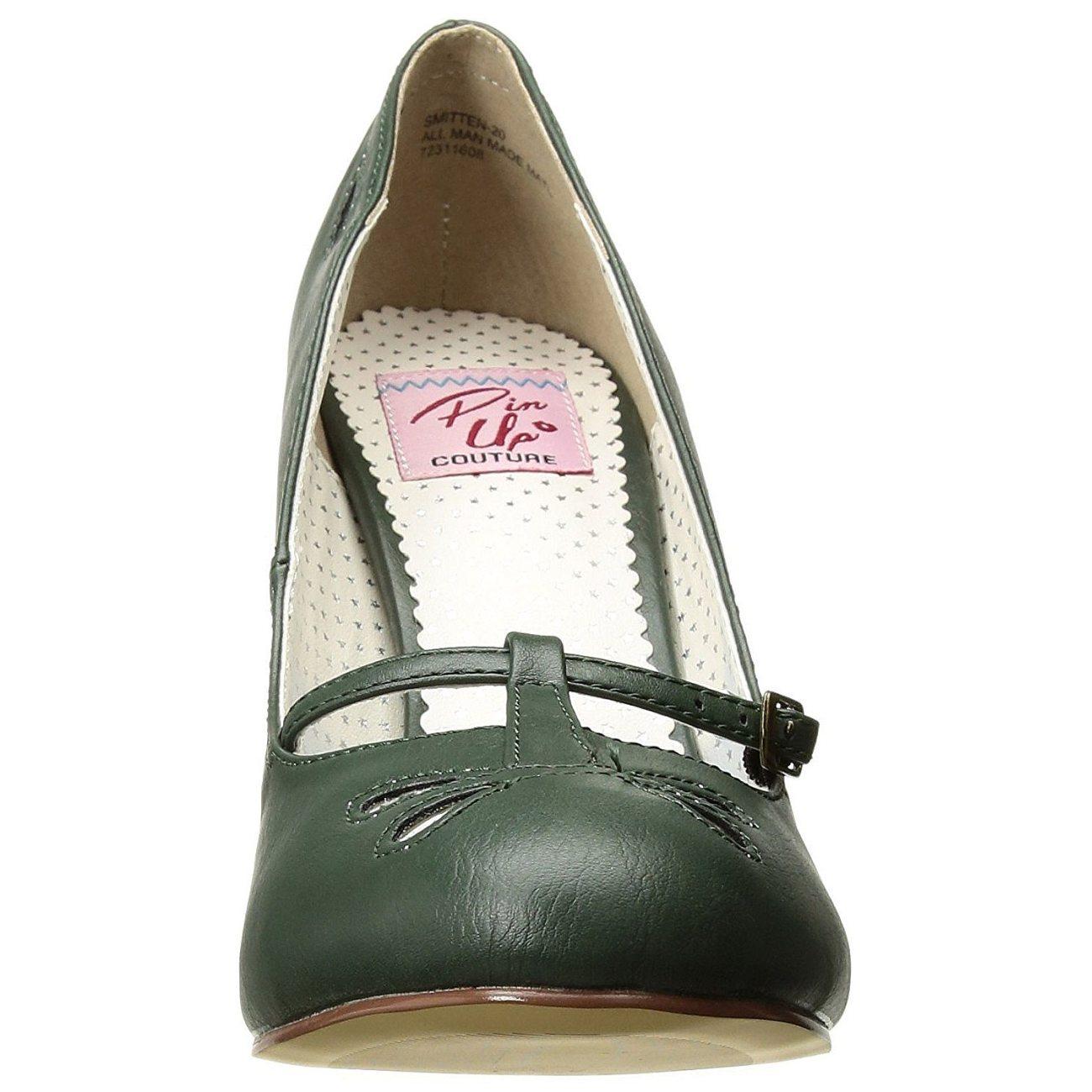95fec1bf grønn 10 cm SMITTEN-20 pinup pumps sko med lave hæler