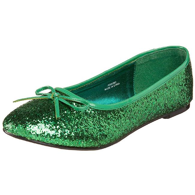 lilla STAR 16G glitter ballerinasko dame med flate hæl