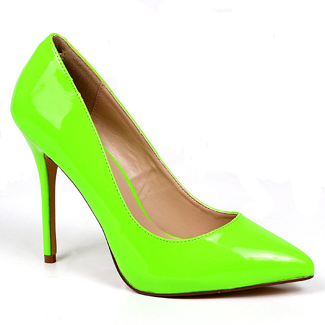 dame AMUSE sko cm stiletthæl 20 pumps neon grønn 13 rCWoxdBe