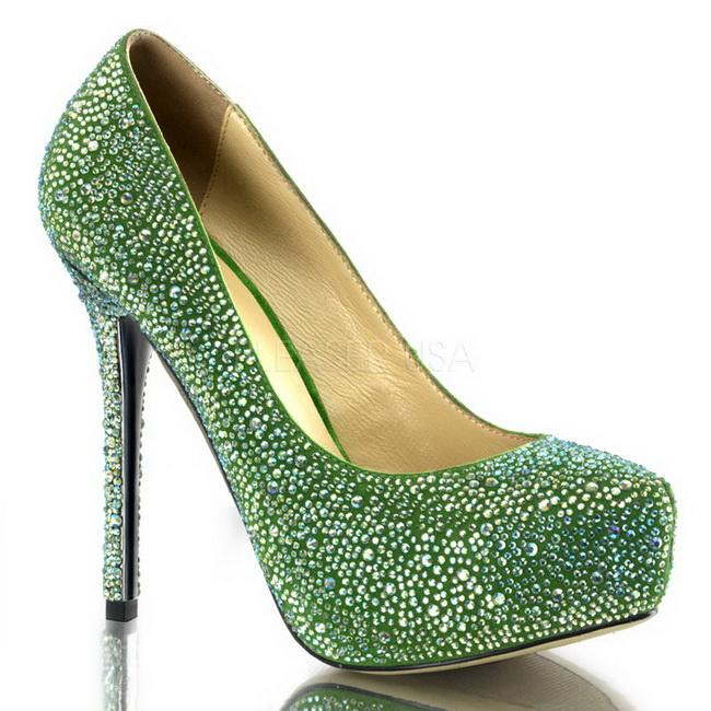 13 platform cm sko PRESTIGE 20 høye strass pumps grønn WIYE29DH