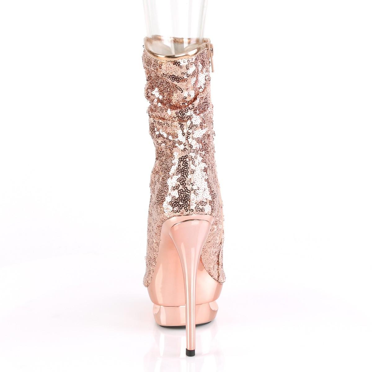 gull rosa paljetter 15,5 cm BLONDIE R 1008 korte støvler platå