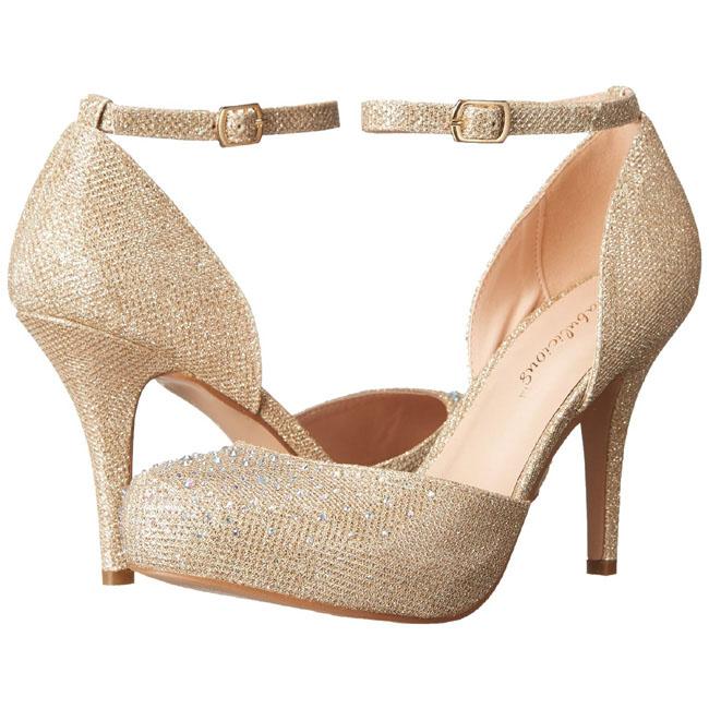 gull strass 9 cm COVET 03 klassiske pumps sko til dame