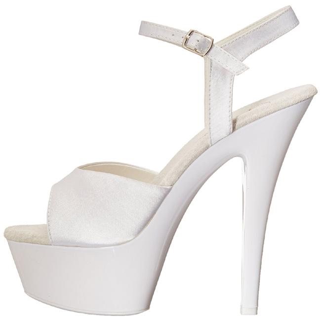 f10ec839 hvit neon 15 cm Pleaser KISS-209UV platå høye hæler sko