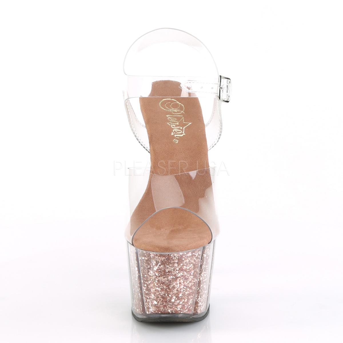 kobber glitter 18 cm Pleaser ADORE 708G pole dancing sko
