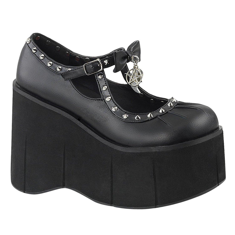 kunstlær 11,5 cm KERA 14 lolita sko gothic platåsko