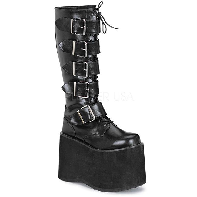 cf89b541 kunstlær 15 cm MEGA-618 platå gotisk støvler til menn