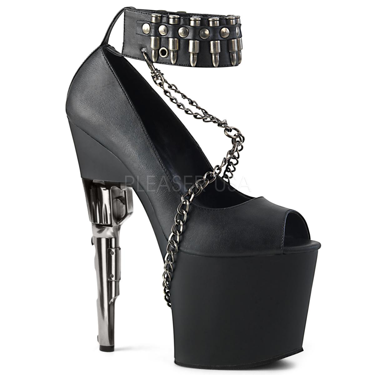 kunstlær 19 cm BONDGIRL 783 platform høyhælte sko