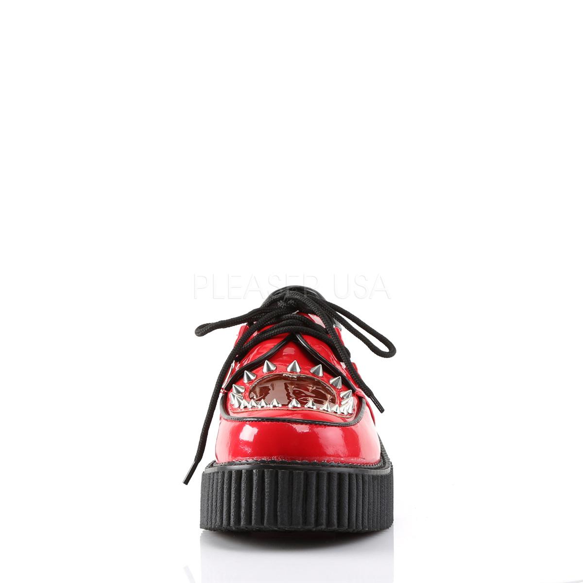 rød 5 cm CREEPER 108 creepers sko for dame platåsko med tykke såler