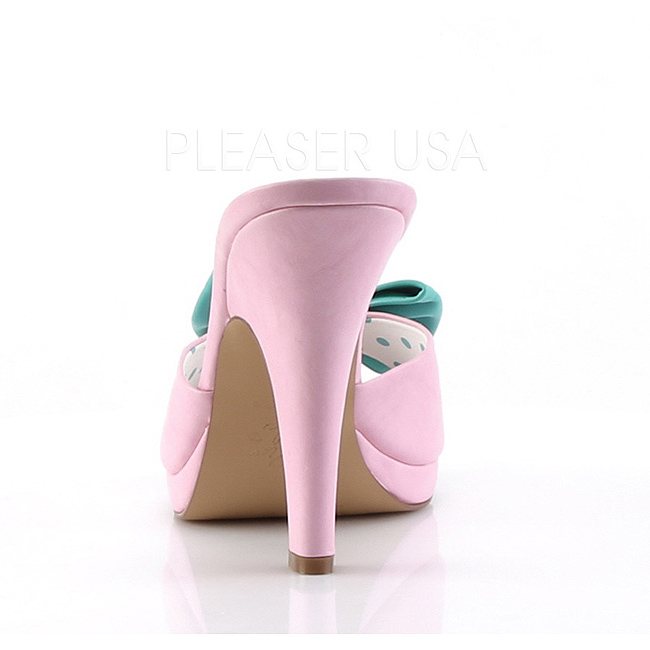 SIREN cm med rosa 10 sløyfe mules pinup 03 sko VpGqLSzMU