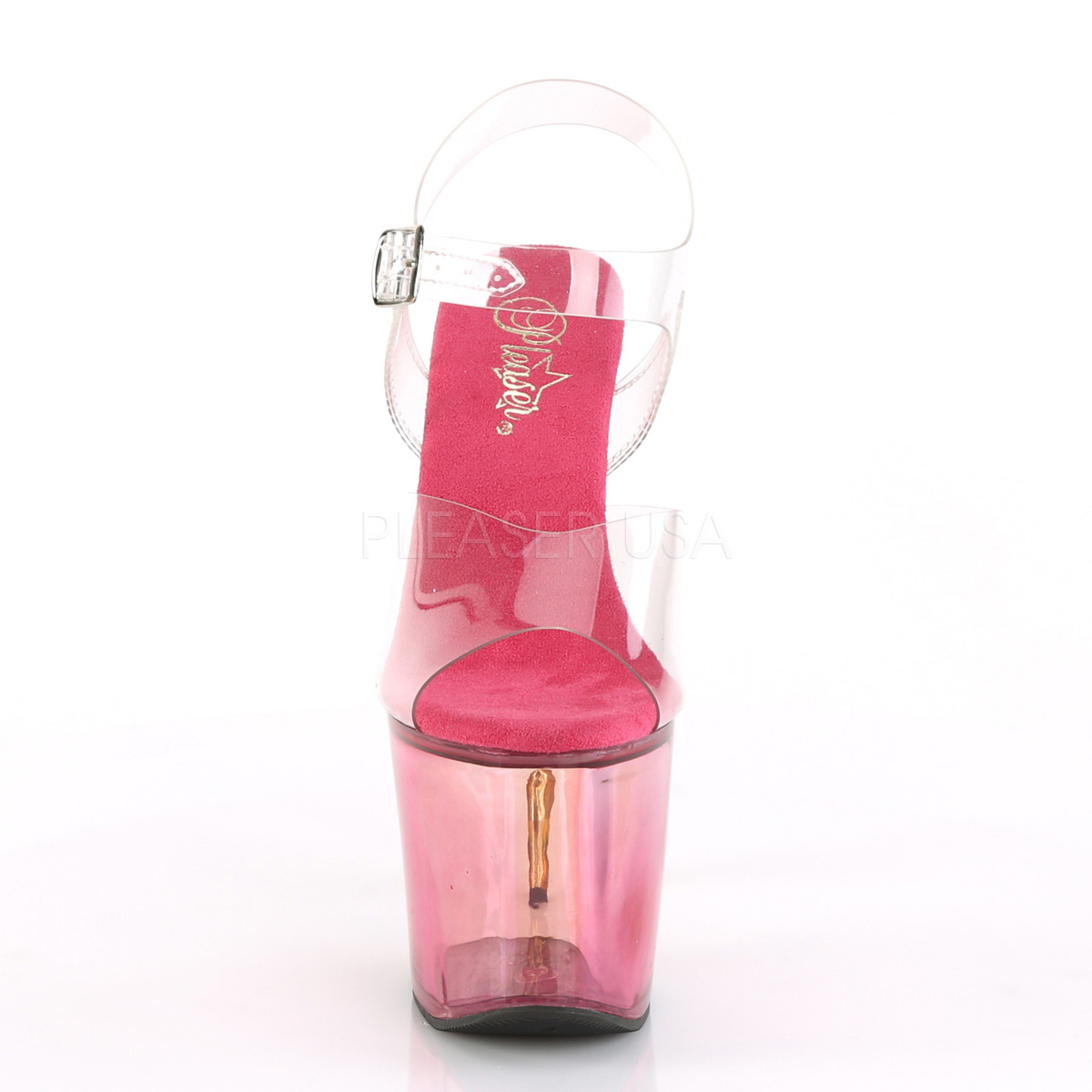 rosa 18 cm SCALLOP 708MCT platform høyhælte sko