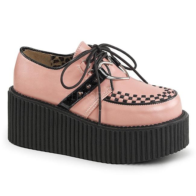 ce707968 rosa kunstlær CREEPER-206 platå creepers sko til kvinners