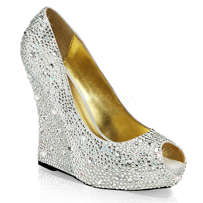 d2214ab9 sko cm krystall ISABELLE 18 sølv kilehæler pumps wedge 5 13 stein xSqwwvIO