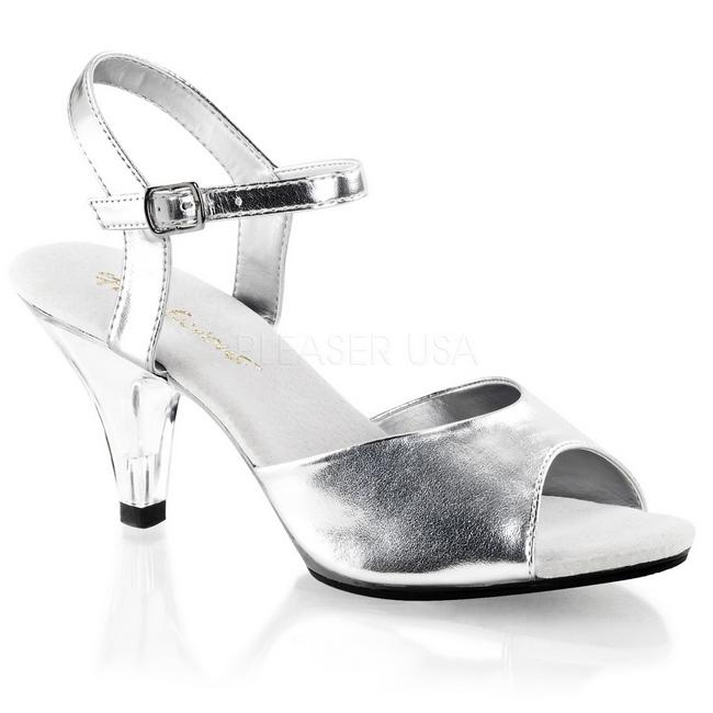 1973c9ae sølv matt 8 cm BELLE-309 dame sandaletter lavere hæl