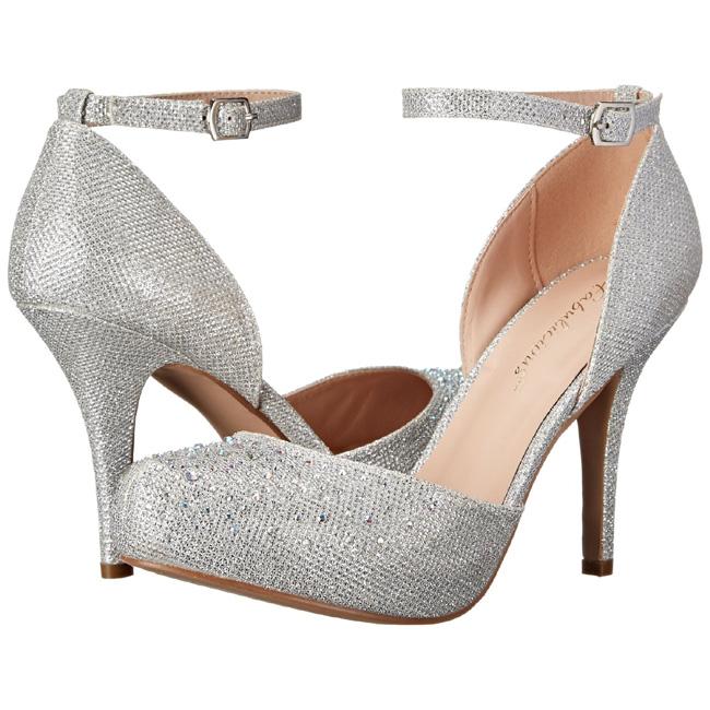 sølv strass 9 cm COVET 03 klassiske pumps sko til dame