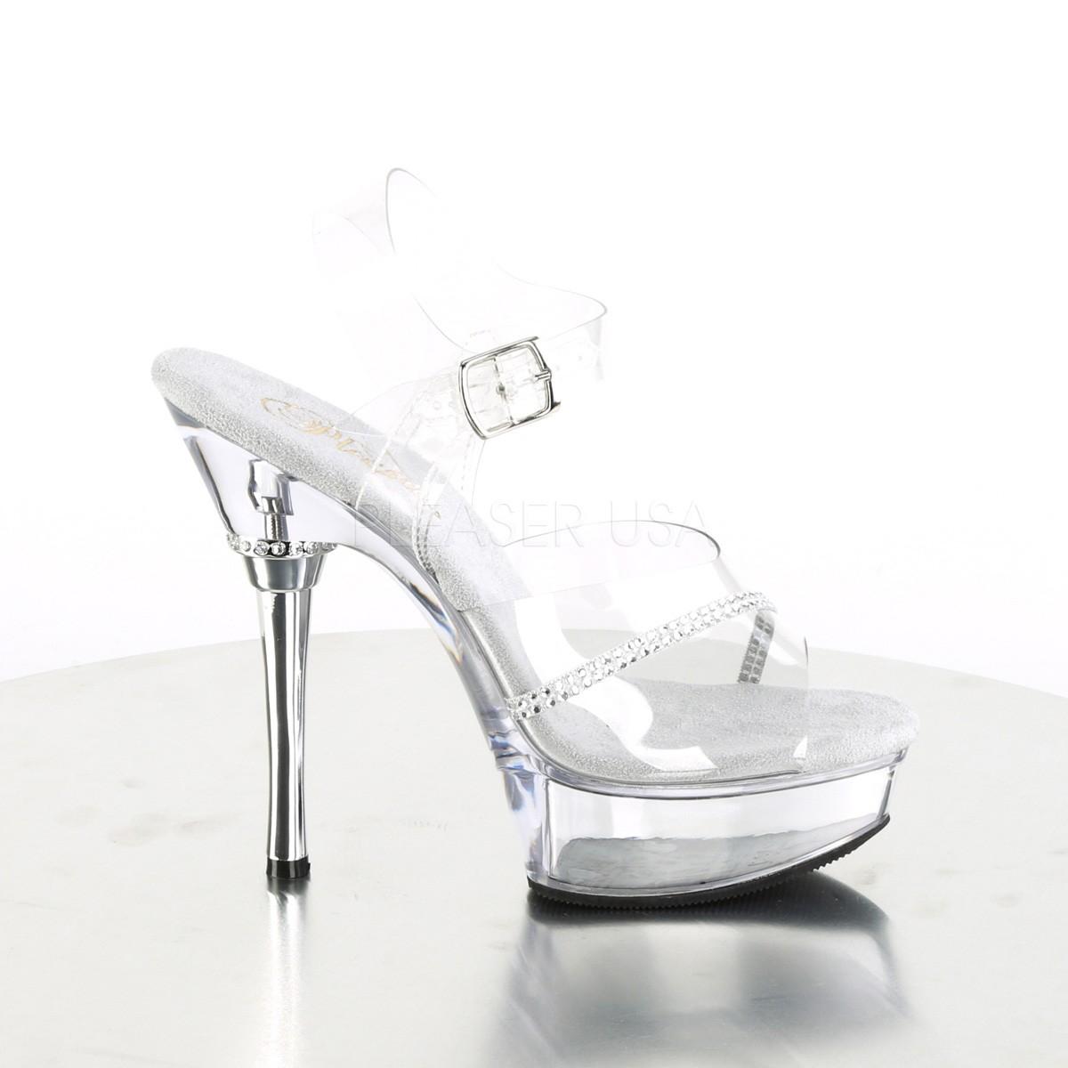 77b1b5ce strass 14 cm ALLURE-608R platå høyhælte sandaler sko