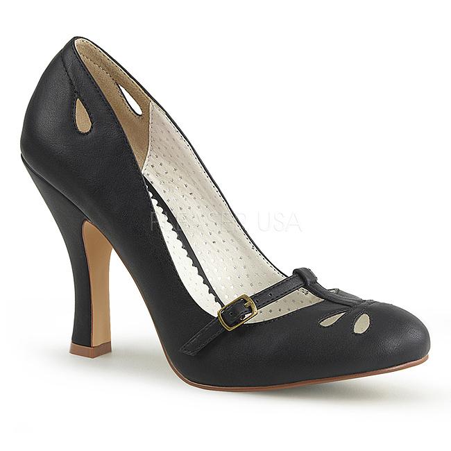 d8713b4a svart 10 cm SMITTEN-20 pinup pumps sko med lave hæler