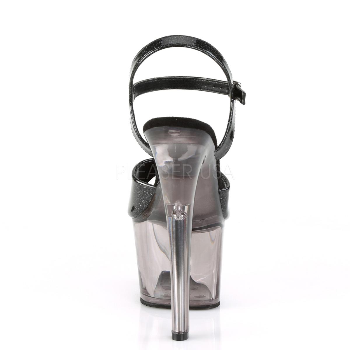 09ef9b81 svart 18 cm SKY-309GPT glitter platå sandaler dame