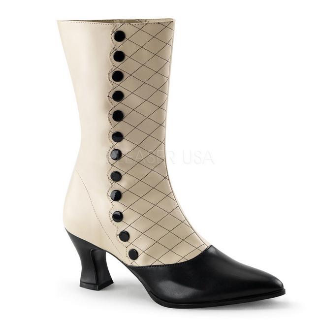 beige høye svart cm ankel 123 7 VICTORIAN dame støvler ED9WYH2I