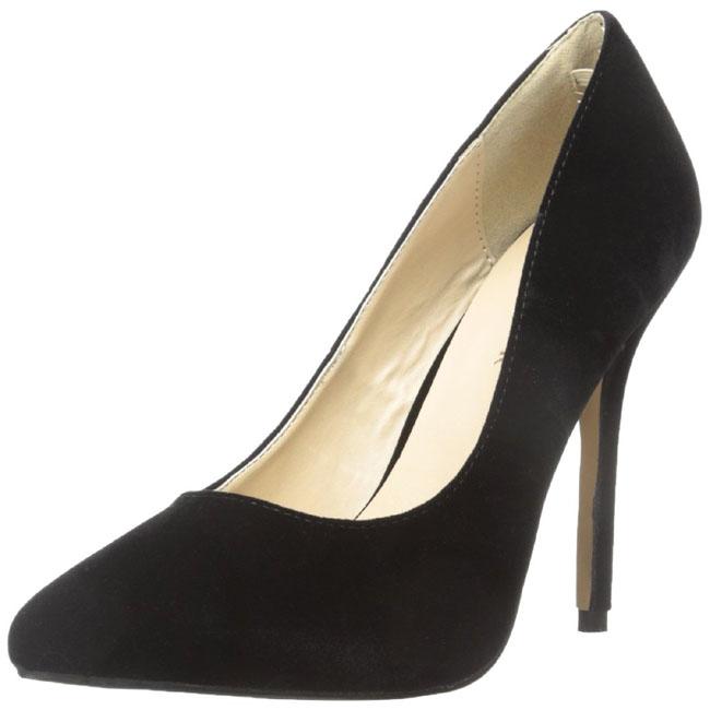ea31d948 svart fløyel 13 cm AMUSE-20 dame pumps sko stiletthæl