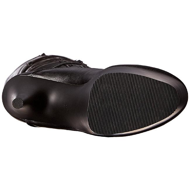 svart kunstlær 18 cm ADORE 3028 lårhøye støvletter med høy hæl
