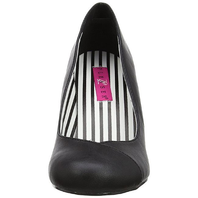 svart lakklær 7,5 cm JENNA 01 store størrelser pumps sko