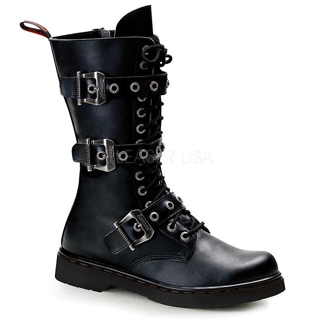 d3225992 svart kunstlær DEFIANT-303 støvletter til menn med snøring