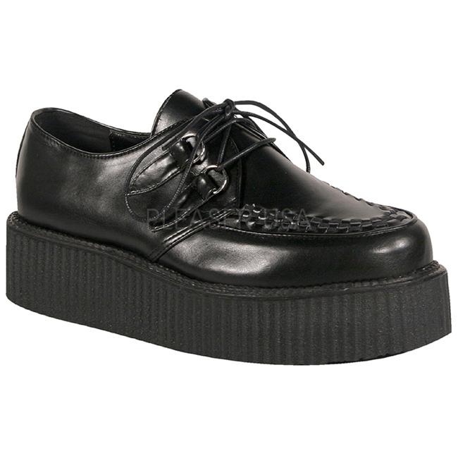 svart sko CREEPER platå creepers til menn kunstlær V 502 XOPZkiu